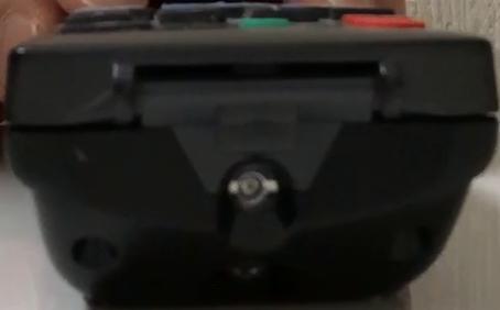 ボタンオフの状態の赤外線