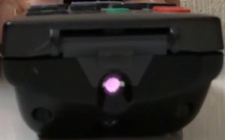 ボタンオンの状態の赤外線